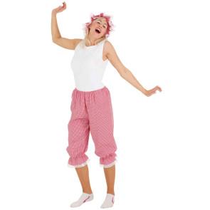 ¾ Hose rot weiß kariert. Schlafanzug, Badeanzug