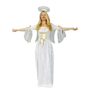 Foto Blonde Frau im Kostüm Engel