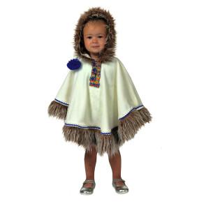 Eskimo Kleinkind Kostüm Gr. ca. 80/86 als Cape mit Kapuze