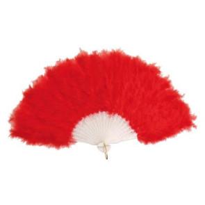 Feder-Fächer rot