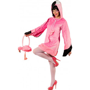 Flamingo Kleid Damen