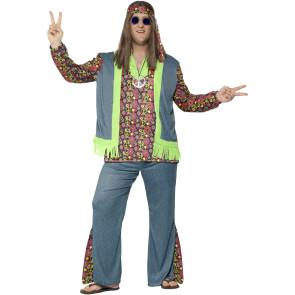 Hippie Kostüm für Männer Gr. 50/52