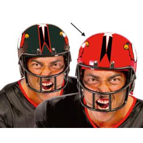 Authentisch wirkender Footballhelm in Kunststoff als Karnevalszubehör.