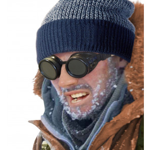 Forscher Alpinist Brille