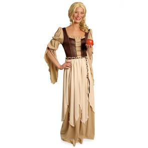 Freifrau Kostüm Mittelalter beige braun