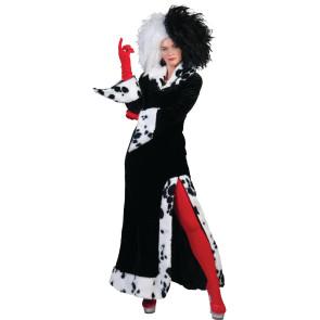 Wie bei Dalmatiner Film Lady Kostüm Cruela