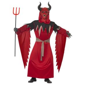 Halloween Kostüm als diabolischer Höllenfürst in rot