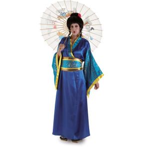 Bild Geisha mit Perücke und Schimchen