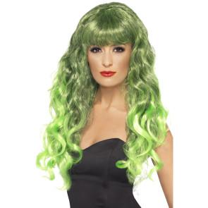 Perücke grün Langhaar Siren