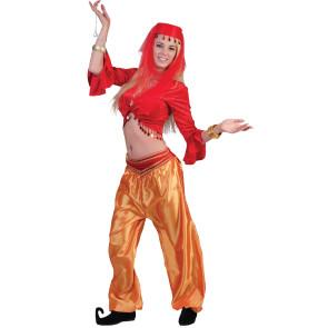 Pluderhose in gold für Harem und 1001 Nacht Kostüme Damen