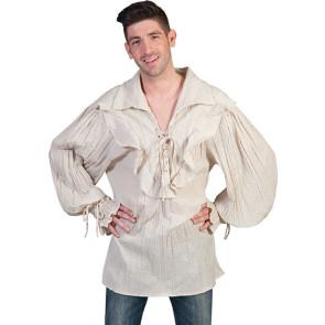 Renaissance Hemd mit Schnürung Mittelalter Hemd