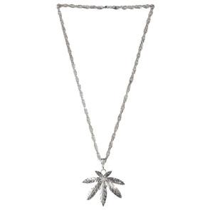 Hanfblatt Halskette