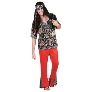 Hippie Kostüm günstig für Herren 3-teiliges Kostüm Hippie.