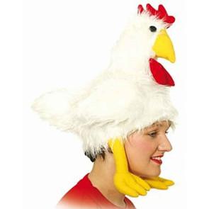 Huhn Mütze Hut in weiß
