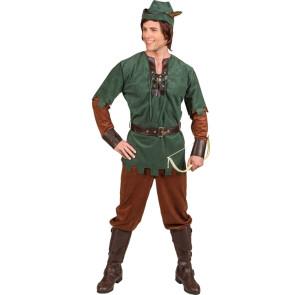Komplettes Robin Hood Kostüm ohne Bogen.