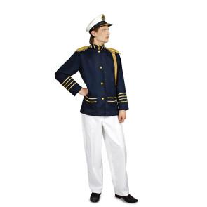 Bild Kapitäns Kostüm - Uniform dunkelblaue Jacke mit weißer Hose
