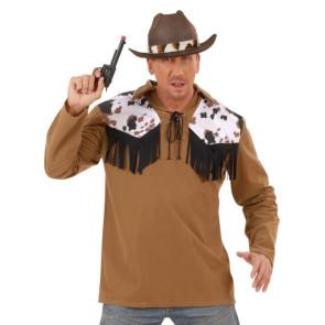 Faschingshemd Cowboy mit Kuhfell