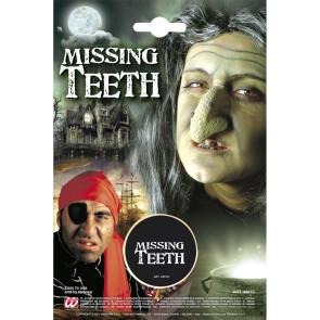 Make-up Effekt zahnlos, fehlender Zahn