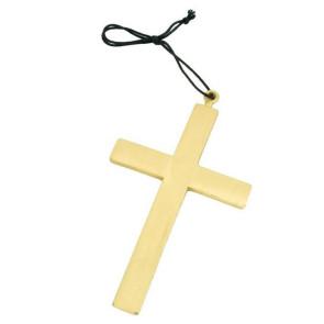 Kreuz in goldfarben mit Kordel Karneval Zubehör