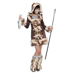 Inuit Eskimot Frau hochwertiges Karnevalskostüm