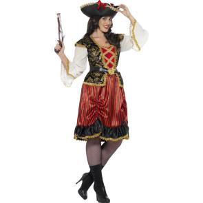 Karnvevalskostüm Piratin S, M, L, XL, XXL