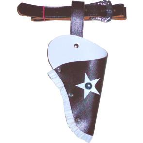 Kinder Colt Gürtel braun mit weiss Holster mit Gürtel 95cm Kindergröße