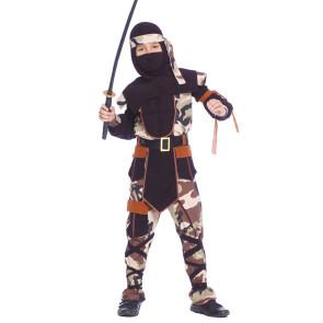 Cooles Ninjakostüm für coole Jungs. Mehrteilig
