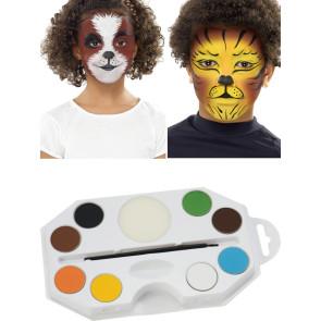 Katzen schminken Set mit Farben