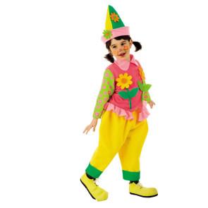 Mädchen verkleidet im KInderkostüm Clown für Fasching