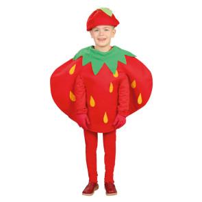 Kinderkostüm Früchte als Erdbeere, zweiteilig