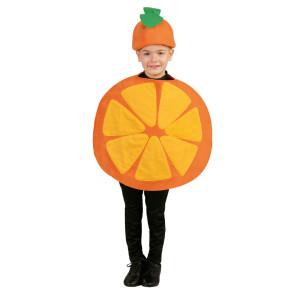 Kinderkostüm Früchte als Orange, zweiteilig