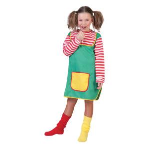 Kinderkostüm Pippi geringelt mit Hemdkleid