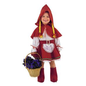 Kleinkind im Rotkäppchen Karnevalskostüm