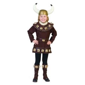 Junge im Kinderkostüm Wikinger verkleidet