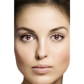 Effekte für Halloween Kostüme. Kontaktlinsen roten Adern und Blutoptik, 1 Paar., 1 Tag tragbar