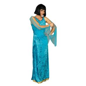 Frau in antiker Robe. Ägypter Kostüm in türkis