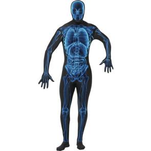 Röntge Scan Ganzkörper Anzug Morph Skelett