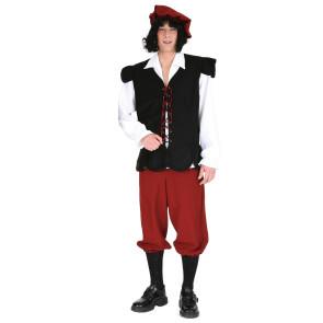 Mann im Knecht Kostüm als Knapp od. Schildträger im Mittelalter