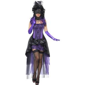 Maskierte Countess, Kostüm Gräfin Mätresse sexy