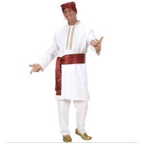 Maharascha Bollywood Kostüm für Herren in weiß 4-teilig
