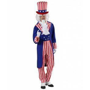 Uncle Sam Kostüm Amerikas Sternenbanner