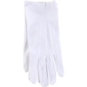 Karnevals Zubehör Handschuhe in 100% Baumwolle mit Biese
