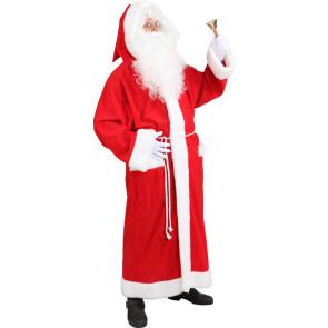 Weihnachtsmannmantel,rot m. Gürtel