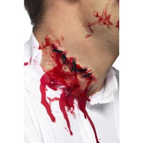 FX Effect Latex Wunde am Hals genäht blutig Zombie-Effekte