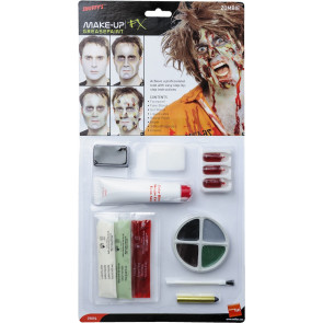 Verfaulter Zombie-Schminke Latex Set Hautfetzen