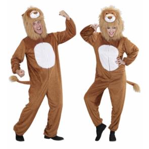 Löwe und Löwin Tierkostüm als Overall mit toller Mähne