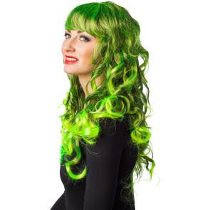 Grün - Neongrün Strähnen Frisurperücke