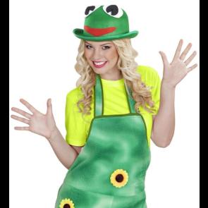 Frosch Hut in grün mit lachendem Froschgesicht