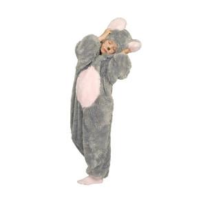 Plüschkostüm Maus für Kinder in grau