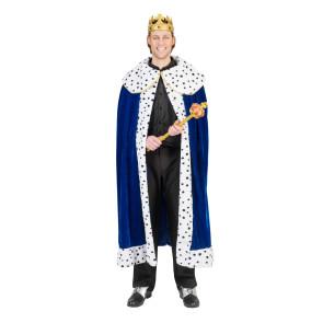 Mantel für König und Prinz in blau